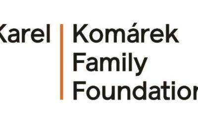 Poděkování Nadaci Karel Komárek Family Foundation