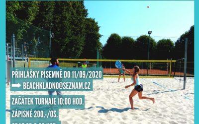 2. ročník Benefičního turnaje v plážovém tenisu